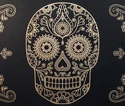 gold sugar skull wallpaper cool material