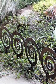 7 Spiral Garden Stake Steel Garden Decor Planter Edge Etsy