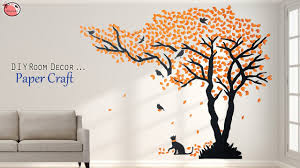 Wall Art Design Genius Diy Wall Sticker Making From Paper Youtube