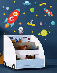 Space Wall Decals Astronaut Wall Decal Space Decal Rocket Etsy