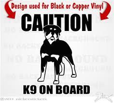 Rottweiler Dog Decals Stickers Nickerstickers