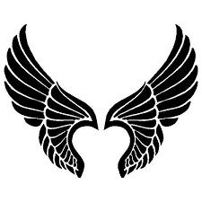 Woman Girl Angel Wings Wall Art Sticker Decal Brown For Sale Online Ebay