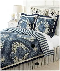 martha stewart queen indigo blue damask