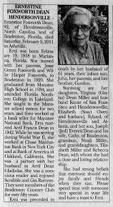 Erni's obit Asheville - Newspapers.com