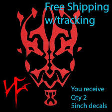 Star Wars Darth Maul Logo Imperial First Order Vinyl Decal Etsy