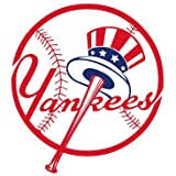 Amazon Com New York Yankees Official Mlb 4 5 X6 Car Window Cling Decal Sports Outdoors