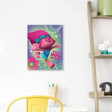 Shop Trolls Poppy Smile Hug Repeat Embellished Canvas Set Of 2 11w X 14h X 1 25d Each Multi Color Overstock 21425626