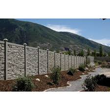Simtek Ecostone 6 Ft H X 6 Ft W Beige Composite Fence Panel Fp72x72beg The Home Depot In 2020 Fence Panels Backyard Privacy Privacy Fences