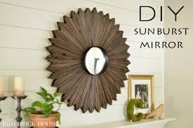 diy sunburst mirror little brick house