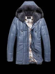 genuine leather bubble er jacket