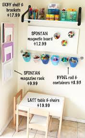 Diy Creativity Center Toddler Friendly Baby Proof Modern Parents Messy Kids Kids Playroom Playroom Organization Playroom