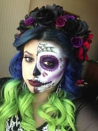 sugar skull makeup that is hauntingly