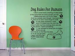 Dog Rules For Humans Giant Wall Sticker Art Quote Vinyl Decal Home Room Interior Mural Animal Pets Adorable Decor Vinyl Decal Stickers For Wallstickers For Aliexpress