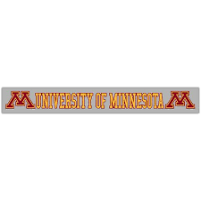 University Of Minnesota M Decal University Of Minnesota Bookstores