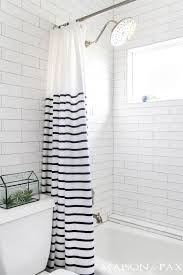 navy and white bathroom makeover