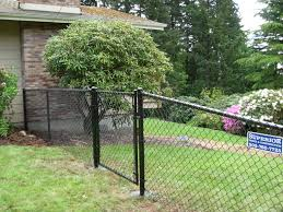 Black Chain Link Fence With Gate 503 760 7725 Black Chain Link Fence Chain Link Fence Gate Chain Link Fence