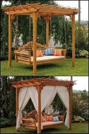 Pin by Twila Ellis on Backyard Patio Designs | Outdoor porch bed, Pergola,  Outdoor swing