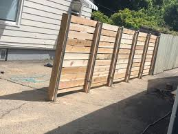 Horizontal Cedar We Did Today On Metal Post Gem State Fencing And Staining Llc Facebook