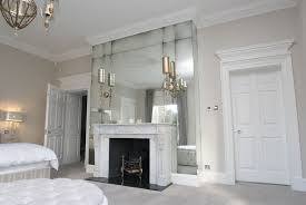 antique mirror glass over mantel in