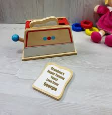 personalised toy wooden toaster toast