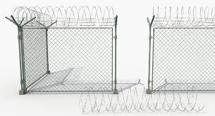 Barbed Wire Fence 3d Model 29 Obj Max Fbx Free3d