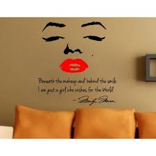 Marilyn Monroe Red Lips Wall Decals
