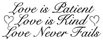 Decal Vinyl Wall Sticker Love Is Patient Love Is Kind Love Never Fails Contemporary Wall Decals By Design With Vinyl