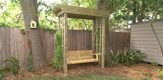 how to build a backyard arbor swing