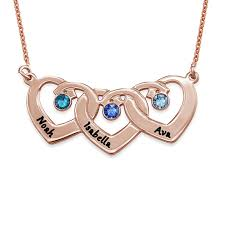 interlocking heart pendant necklace