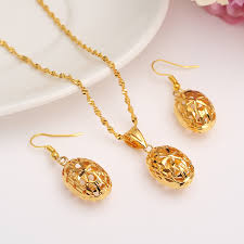 gold flower beads women bridal jewelry