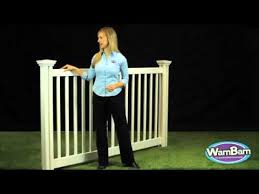 Wambam Fence Plain Jane 4ft Pool Perimeter Vinyl Fence Youtube