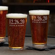 personalized wedding favor pint glass