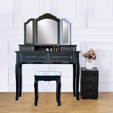 4 drawer vanity table set dressing