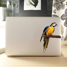 Scarlet Macaw Parrot Laptop Sticker For Macbook Air Pro Retina 11 12 13 14 15 Inch Hp Dell Notebook Decal Mac Book Skin Sticker Aliexpress