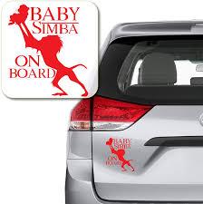 Amazon Com Yoonek Graphics Baby Simba On Board Rafiki Lion King Decal Sticker For Car Window Laptop And More 1118 Custom Custom Automotive
