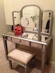 mirrored makeup storage is a stylish