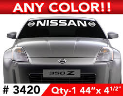 Product Nissan Maxima Altima 370 Z Decal Sticker 44 W X 4 5 H