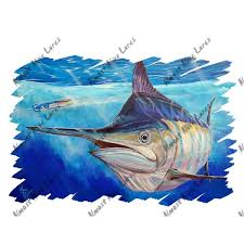 Blue Marlin Billfish Fish Auto Body Rv Boat Glass Window Vinyl Decal Sticker Art Ebay
