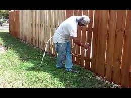 Steps On How To Stain A Fence With A Sprayer Youtube