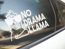 Car Sticker No Drama Llama Funny Alpaca Lovers Bumper Decal Stickers Llamas Aust Ebay