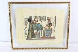 framed egyptian wall art painting gold