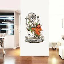 Wall Decal Buddha Lord Ganesha Indian God Buddhism Vinyl Sticker Z2872