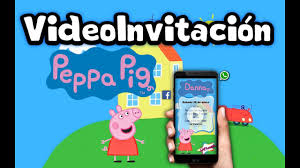 Video Invitacion Digital Animada Peppa Pig Youtube
