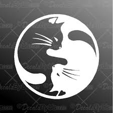 Yin Yang Cats Decal Yin Yang Cats Car Sticker Lowest Prices