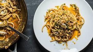Recipe: Almond, Dill and Sardine Bucatini