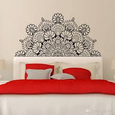 Hot Sales Mandala Home Decoration Headboard Wall Sticker Lotus Poster Bedroom Bohemia Art Bedside Vinyl Decal Waterproof Removable Mural Wall Decal Wall Decal Adhesive From Fst1688 32 62 Dhgate Com