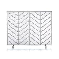 chevron fireplace screen reviews