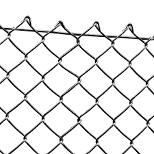 Black Pvc Coated Chain Link Fencing 180cm 6ft High