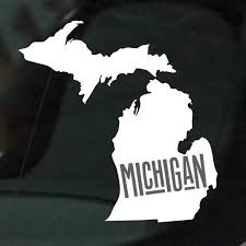 Home State Collection The State Of Michigan Car Decal Bumper Etsy Michigan Decal State Of Michigan Bumper Stickers