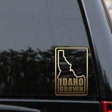 Idaho Grown State Outline Decal Sticker Love Home Id Flag Car Window Vinyl Ebay